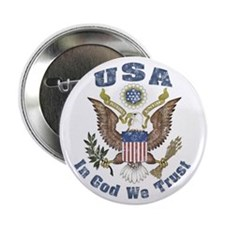 """USA - Weathered Look 2.25"""" Button (10 pack)"""