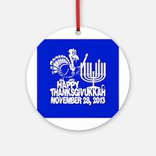 Happy Thanksgivukkah Turkey and Menorah Ornament (