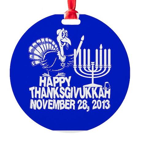 Happy Thanksgivukkah Turkey and Menorah Ornament