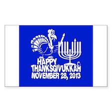 Happy Thanksgivukkah Turkey and Menorah Decal