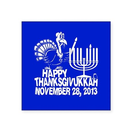 Happy Thanksgivukkah Turkey and Menorah Sticker