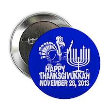 "Happy Thanksgivukkah Turkey and Menorah 2.25"" Butt"