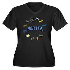 AgilityEquip Women's Plus Size Dark V-Neck T-Shirt