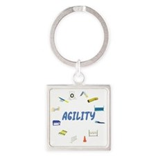AgilityEquip_Circle Square Keychain