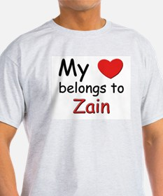 I love zain Ash Grey T-Shirt