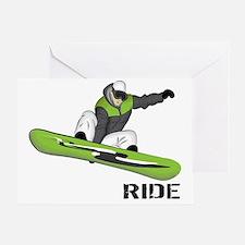 SnowboarderBack Greeting Card