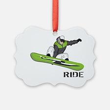 SnowboarderBack Ornament