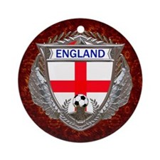 England Soccer Keepsake Box Round Ornament