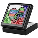 Music teacher Square Keepsake Boxes