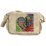 Music Canvas Messenger Bags
