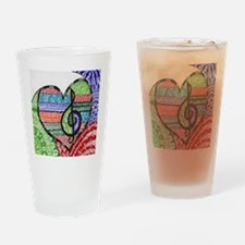 Music is a Song in Your Heart Drinking Glass