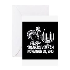 Happy Thanksgivukkah Turkey and Menorah Greeting C