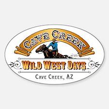Wild West Days Logo Sticker (Oval)
