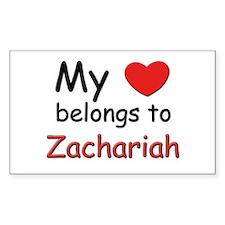 I love zachariah Rectangle Decal