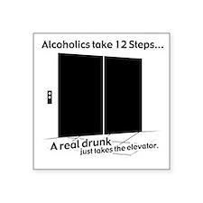 "drunk_aa Square Sticker 3"" x 3"""