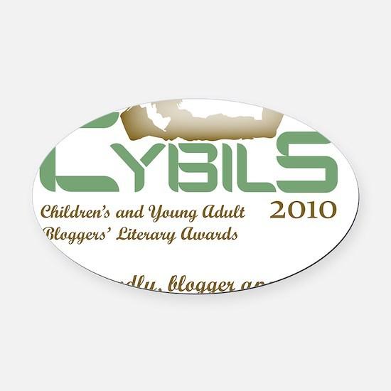 Cybils Logo 2010 - Slogan Oval Car Magnet