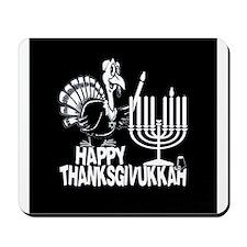 Happy Thanksgivukkah Turkey and Menorah Mousepad