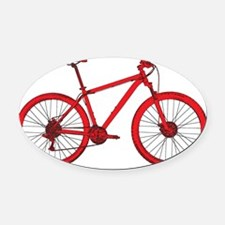 Red Hardtail Oval Car Magnet