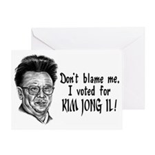 Kim Jong Il Greeting Card