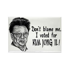 Kim Jong Il Rectangle Magnet
