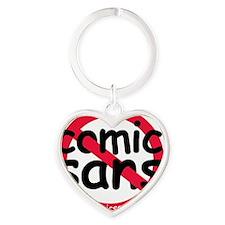 nocomicsans Heart Keychain