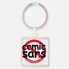 nocomicsans Square Keychain