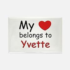 I love yvette Rectangle Magnet