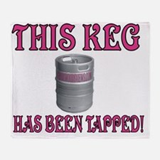This Keg has been tapped.gif Throw Blanket