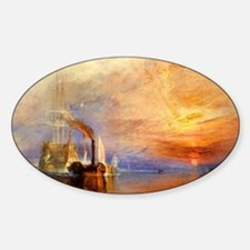 Fighting Temeraire by Turner Sticker (Oval)