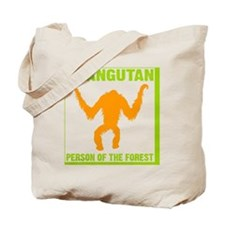 trans-2-Orangutan Person of the Forest sq Tote Bag