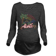 aloha Long Sleeve Maternity T-Shirt