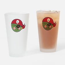 PeaPirateGreenDkT Drinking Glass