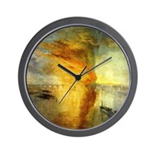 Burning Houses of Parliament Wall Clock