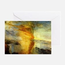 Burning Houses of Parliament Greeting Card