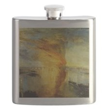 Burning Houses of Parliament Flask