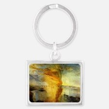 Burning Houses of Parliament Landscape Keychain
