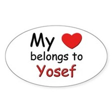 I love yosef Oval Decal