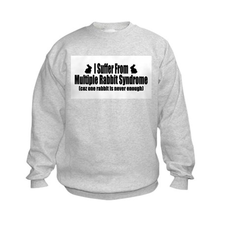 Multiple Rabbit Syndrome Kids Sweatshirt