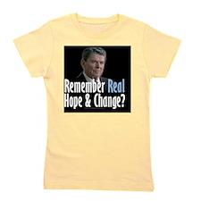 Reagan Real Hope and Change Girl's Tee