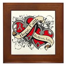 Brain Disorders Hope Hearts Framed Tile