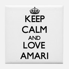 Keep Calm and Love Amari Tile Coaster