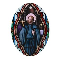 St Francis Xavier Oval Ornament