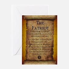 Emancipation Proclamation Poster Greeting Card