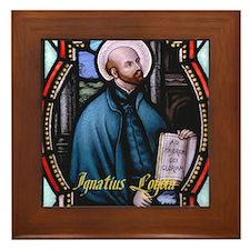 St Ignatius Loyola Framed Tile