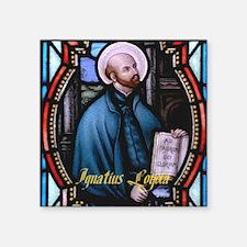 """St Ignatius Loyola Square Sticker 3"""" x 3"""""""