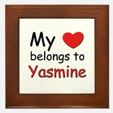 I love yasmine Framed Tile