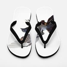 pigeon fly to love joy peace Flip Flops