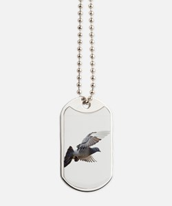 pigeon fly to love joy peace Dog Tags