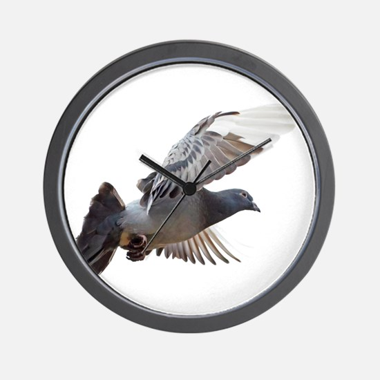 pigeon fly to love joy peace Wall Clock