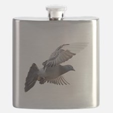 pigeon fly to love joy peace Flask